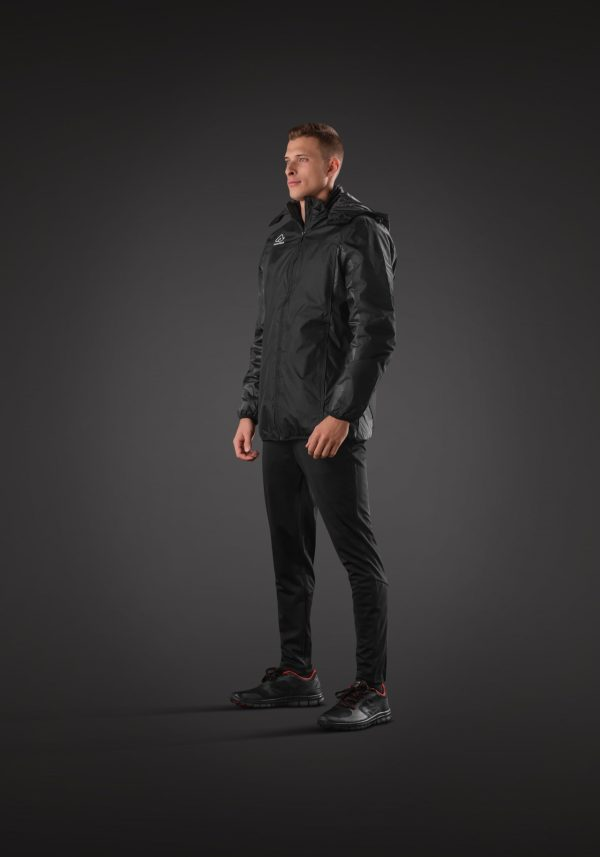 Man wearing BELATRIX Winter Jacket, Black