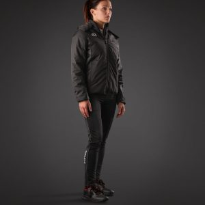 Woman wearing BELATRIX Woman Winter Jacket, Black