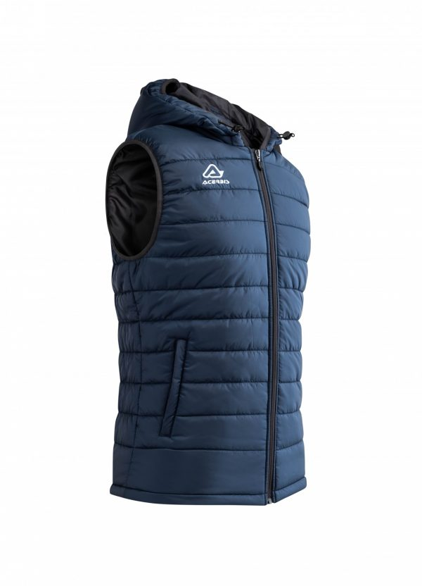 ARTAX Padding Vest, Blue, Side View