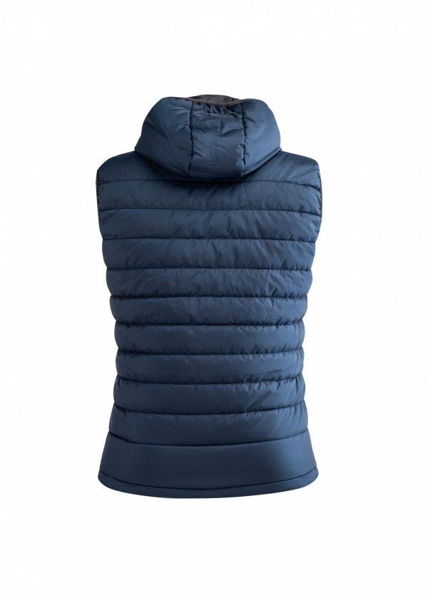 ARTAX Padding Vest, Blue, Back View