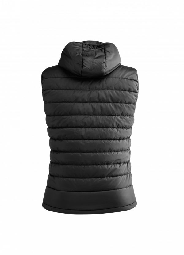 ARTAX Padding Vest, Black, Back View